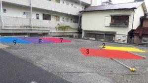 青梅市の整体・こばやし接骨院の駐車場